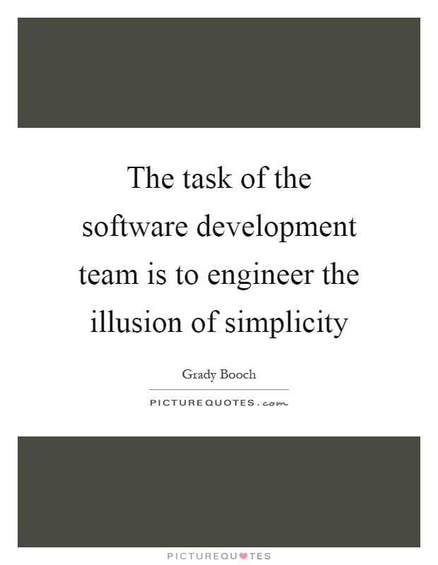 The task of the software development team is to engineer the ...