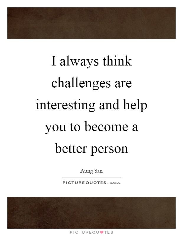 be a better person challenge