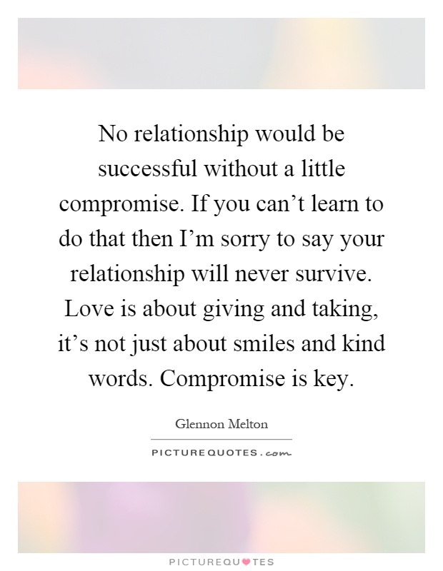 in Should relationship a compromise you