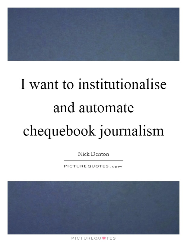 chequebook journalism Chequebook journalism is a subject that has been pontificated and pondered upon in academic journals in many first world countries, yet apart from the 'manto health files' the issue has not surfaced in the south african media or academic journals.