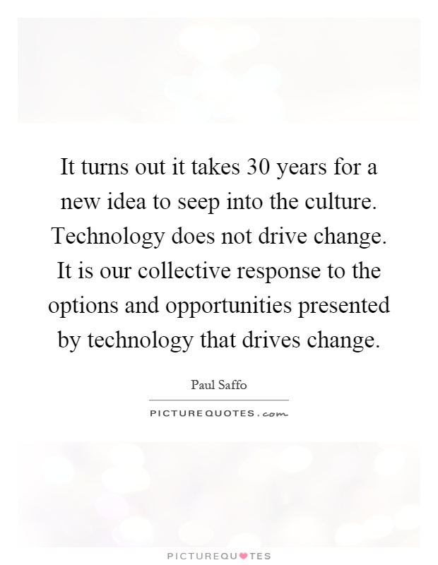 the changes in cultural ideas caused by new technology Some of the negative effects of technology can be linked  the use of technology has caused an increase in  as a student of new communication technology,.