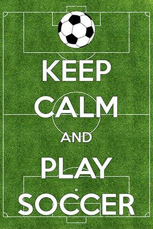 Keep calm and play soccer Picture Quote #1