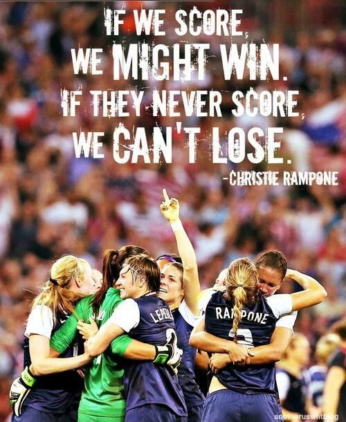 If we score we might win, if they never score we can't lose Picture Quote #1