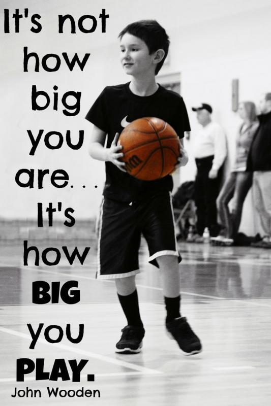 It's not how big you are, it's how big you play Picture Quote #1
