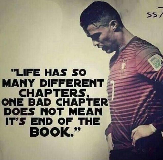 Life has so many different chapters, one bad chapter does not mean the end of the book Picture Quote #1