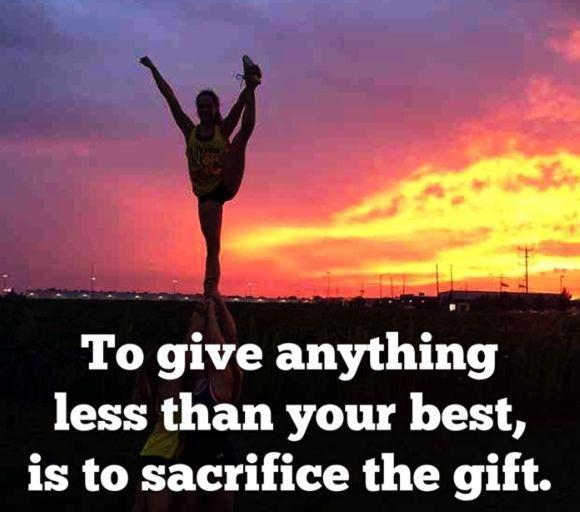 To give anything less than your best, is to sacrifice the gift Picture Quote #1