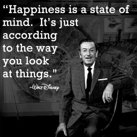 Happiness is a state of mind. It's just according to the way you look at things Picture Quote #1
