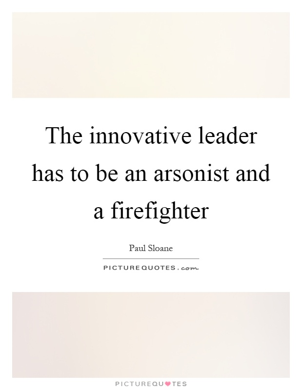 innovative leader Creating an innovative organization requires a clear understanding of mission and goals so that individual innovations can be examined to see whether and how much they actually contribute to achieving the organization's purposes.