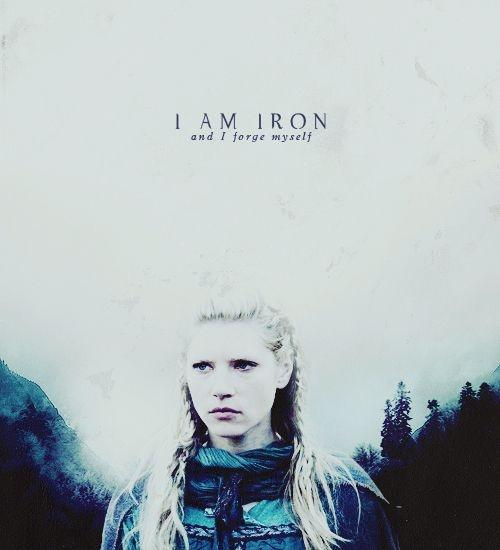 I am iron and I forge myself Picture Quote #1