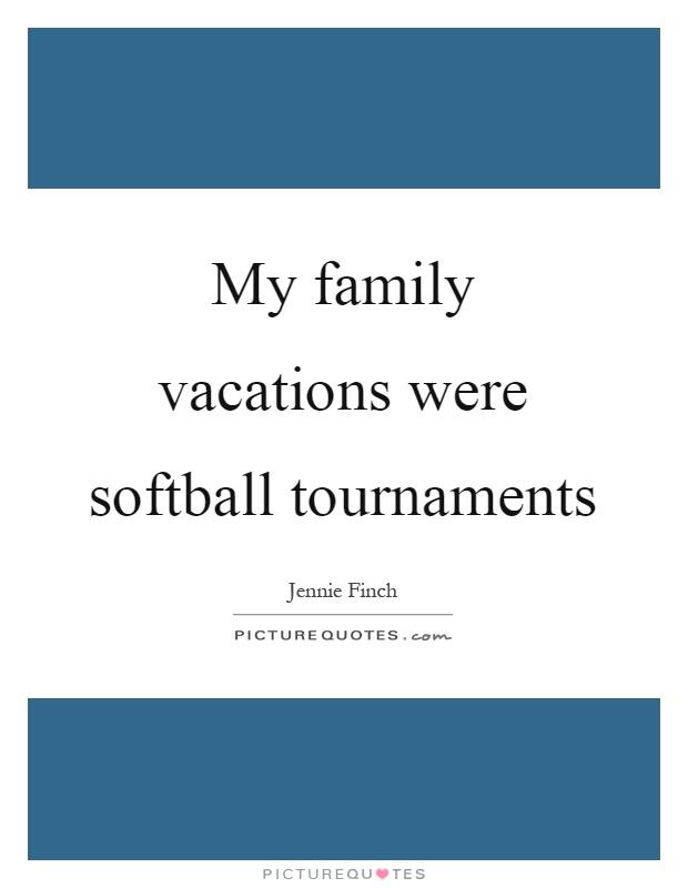 my family vacation
