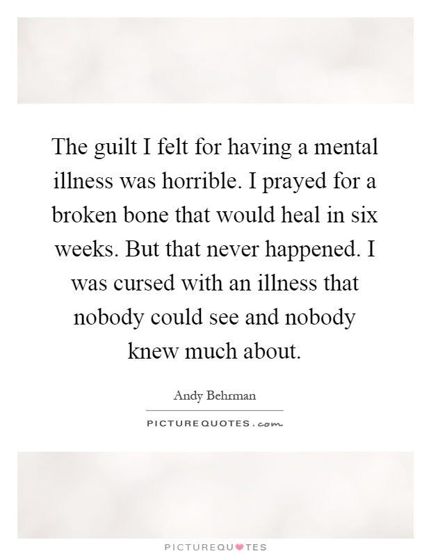 how is guilt felt By barbara fane, lcsw, bcd  coping with guilt and shame after suicide recovering from the guilt of suicide isn't something that human beings do naturally,.