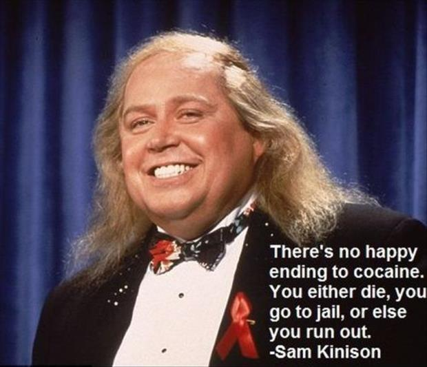 There's no happy ending to cocaine. You either die, you go to jail, or else you run out Picture Quote #2
