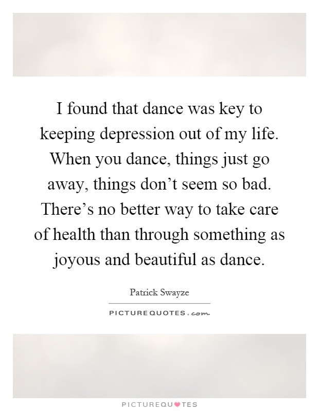 I Found That Dance Was Key To Keeping Depression Out Of My