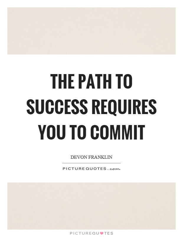 Essay on the path to success