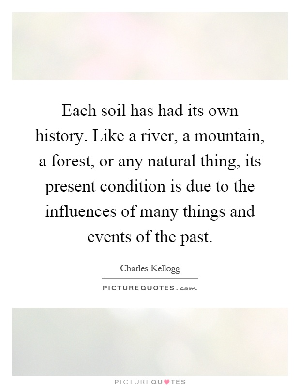 Charles kellogg quotes sayings 4 quotations for Soil and its origin