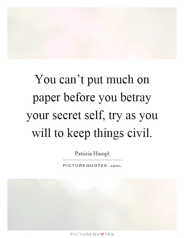 Essay hard it keep secret