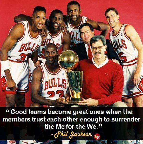 Good teams become great ones when the members trust each other enough to surrender the