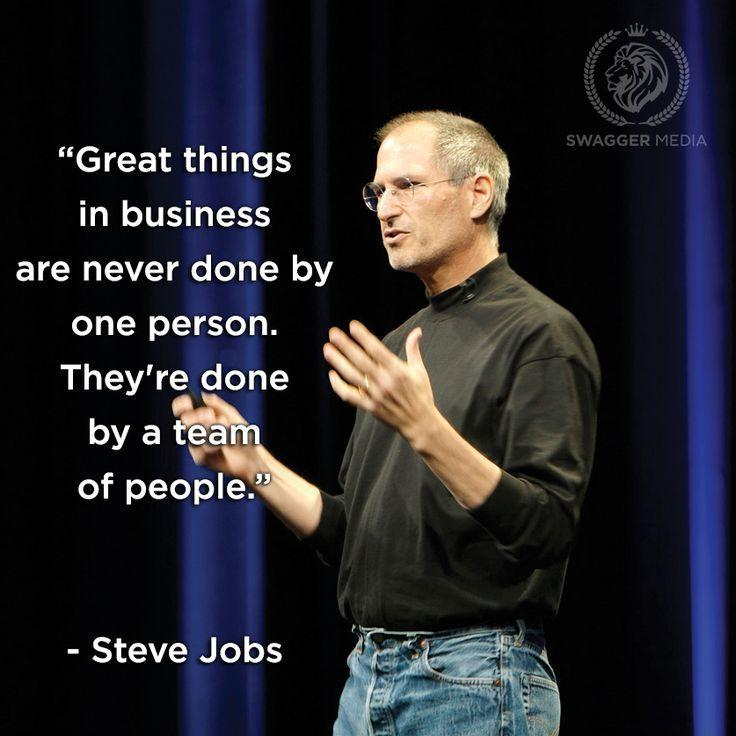 Great things in business are never done by one person. They're done by a team of people Picture Quote #1