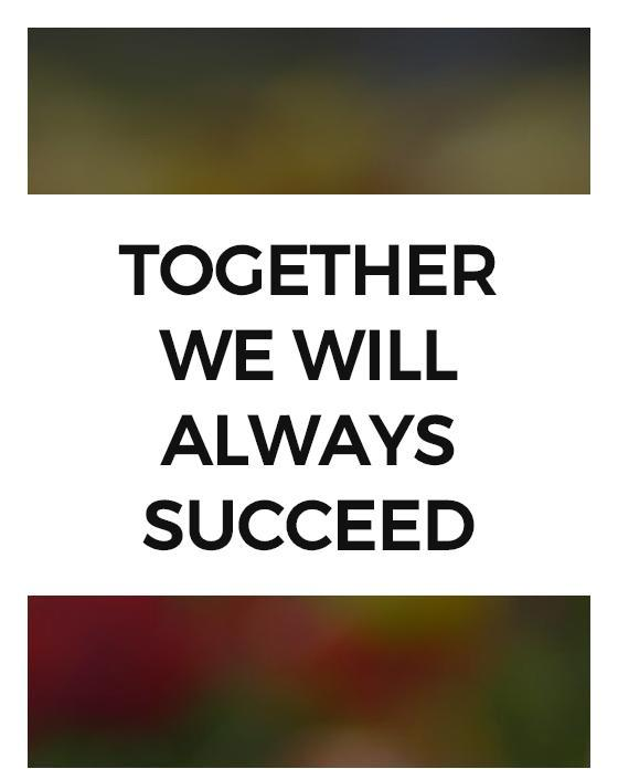 Together we will always succeed Picture Quote #1