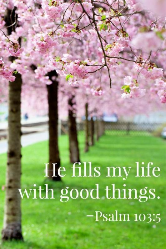 He fills my life with good things Picture Quote #1