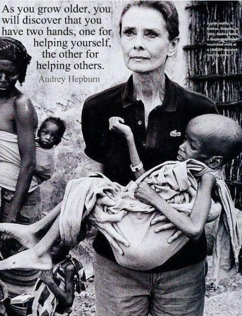 As you grow older, you will discover that you have two hands, one for helping yourself, the other for helping others Picture Quote #1