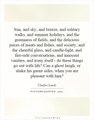 Charles Lamb the two races of man