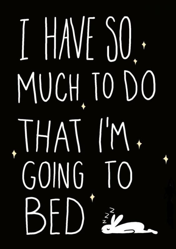 I have so much to do that I'm going to bed Picture Quote #1