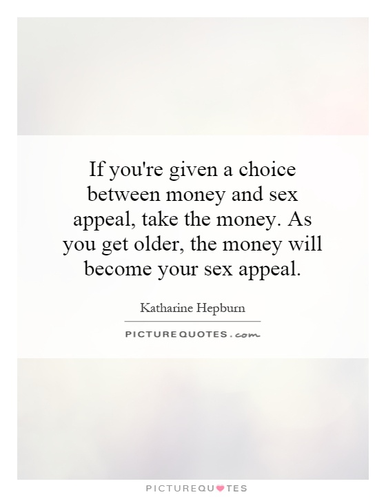 Take money for sex