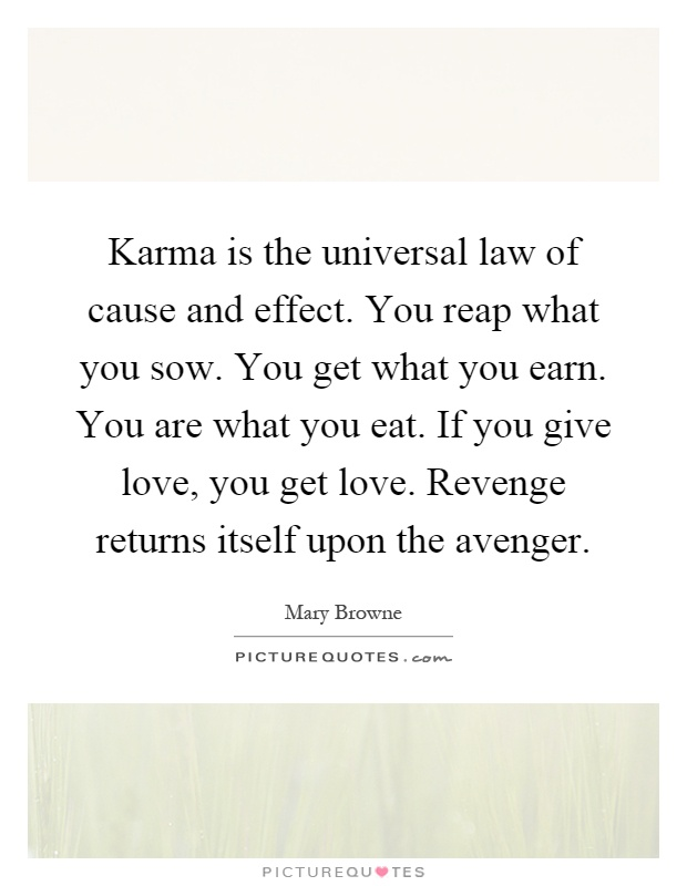 the law of karma essay Buddhist doctrine of karma essay the buddhist doctrine of karma (deeds, actions), and the closely related doctrine of rebirth, are perhaps the best known, and often the least understood, of buddhist doctrines.