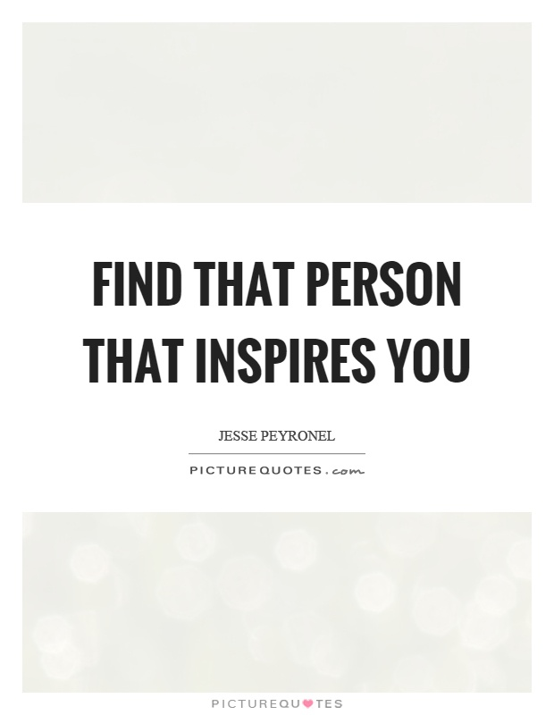 a person who inspires you essay