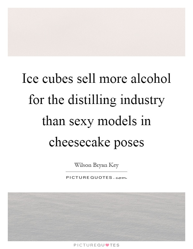 Ice cubes sell more alcohol for the distilling industry than sexy models in cheesecake poses Picture Quote #1