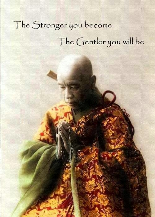 The stronger you become, the gentler you will be Picture Quote #1