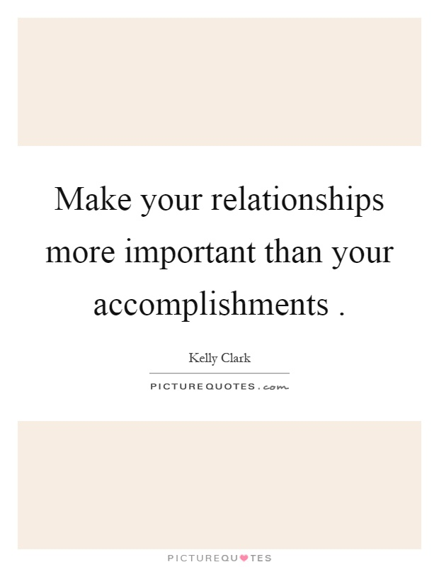 make important relationship