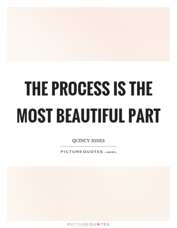 The process is the most beautiful part Picture Quote #1