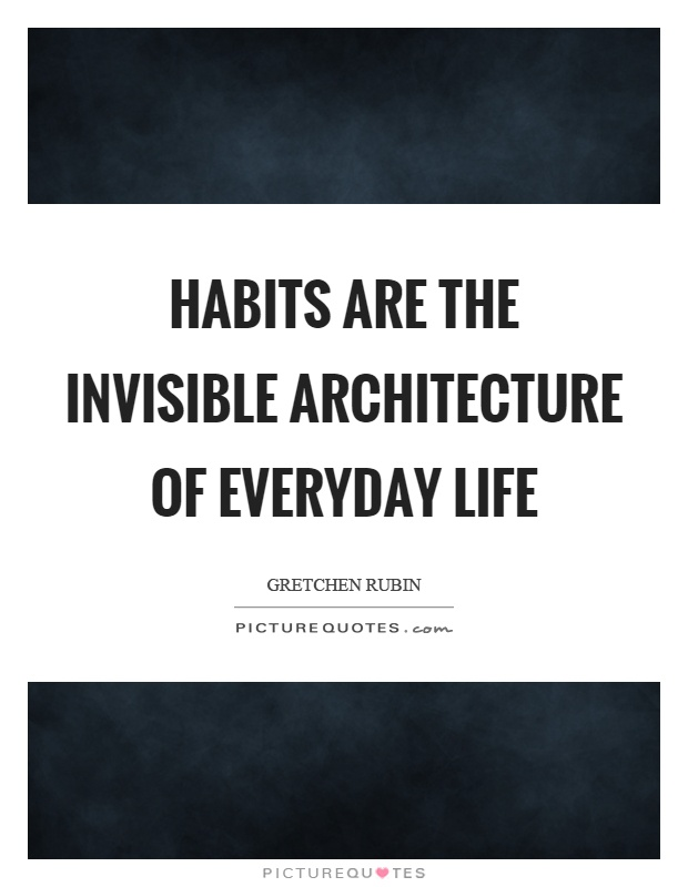 Habits are the invisible architecture of everyday life Picture Quote #1