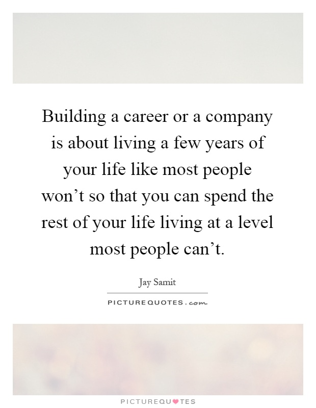 building a career