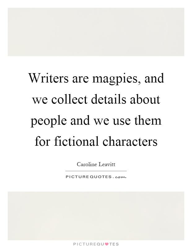 Fictional writers