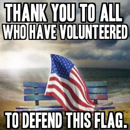 Thank you to all who have volunteered to defend this flag Picture Quote #1