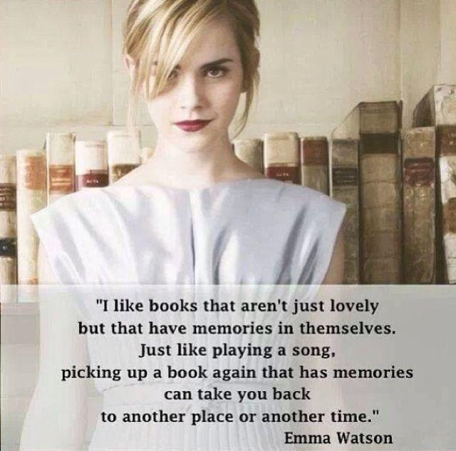 I like books that aren't just lovely but that have memories in themselves. Just like playing a song, picking up a book again that has memories can take you back to another place or another time Picture Quote #1