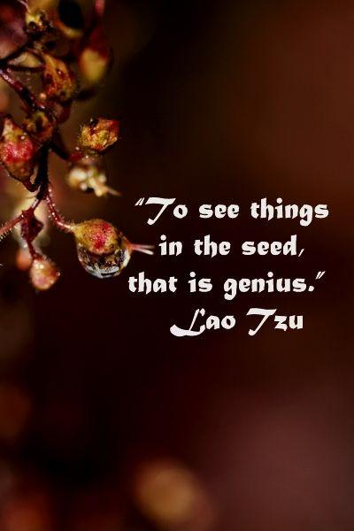 To see things in the seed, that is genius Picture Quote #1