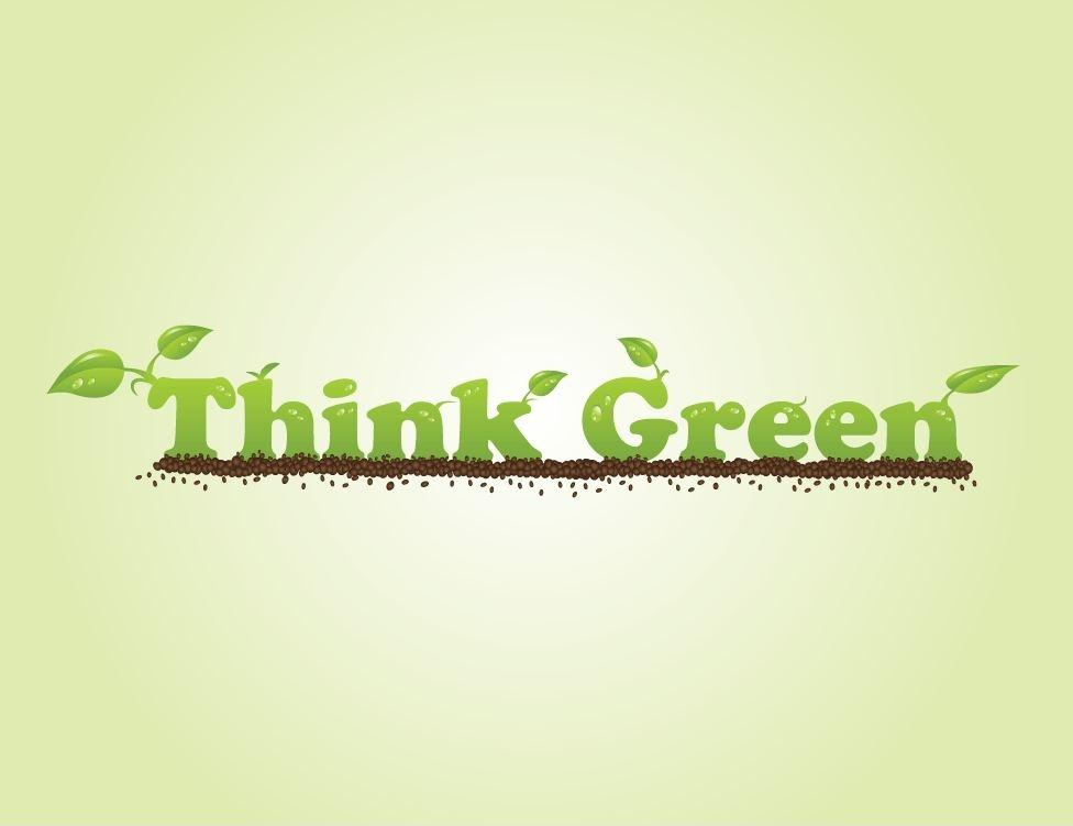 Think green Picture Quote #1