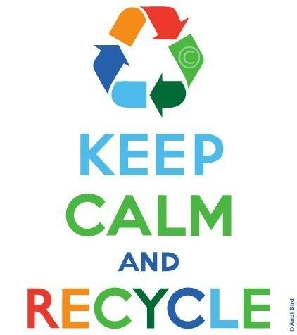 Keep calm and recycle Picture Quote #1