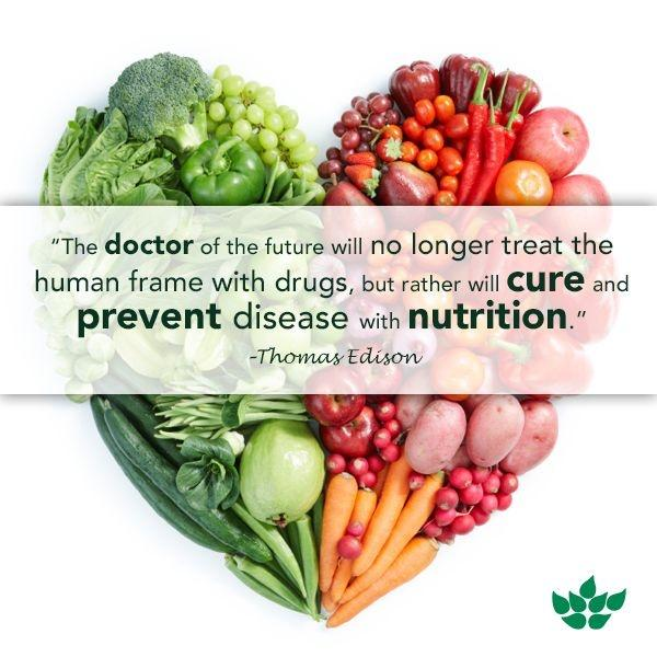 The doctor of the future will no longer treat the human frame with drugs, but rather will cure and prevent disease with nutrition Picture Quote #1