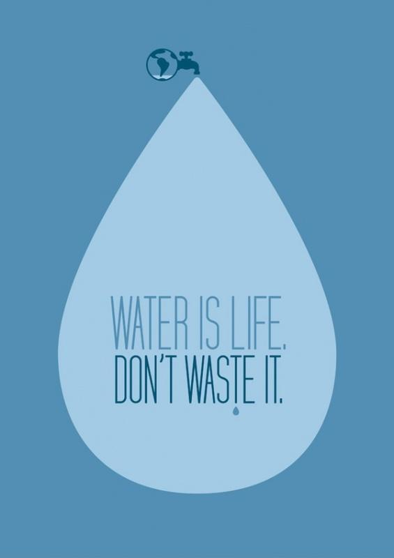 Water is life. Don't waste it Picture Quote #1