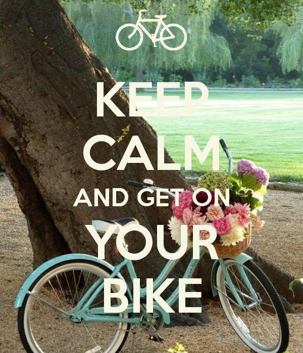 Keep calm and ride your bike Picture Quote #1