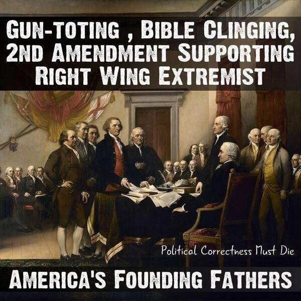 Gun-toting, bible clinging, 2nd amendment supporting right wing extremist Picture Quote #1