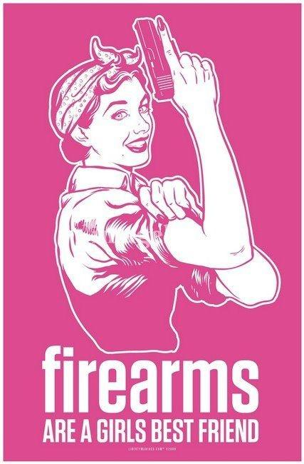 Firearms are a girl's best friend Picture Quote #1
