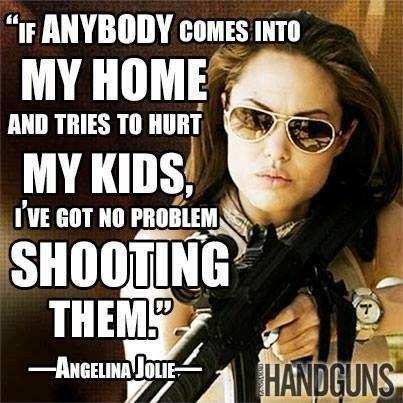 If anybody comes into my home and tries to hurt my kids, I've got no problem shooting them Picture Quote #1