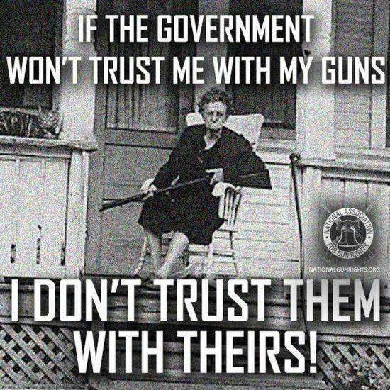 If the government won't trust me with my guns, I don't trust them with theirs Picture Quote #1