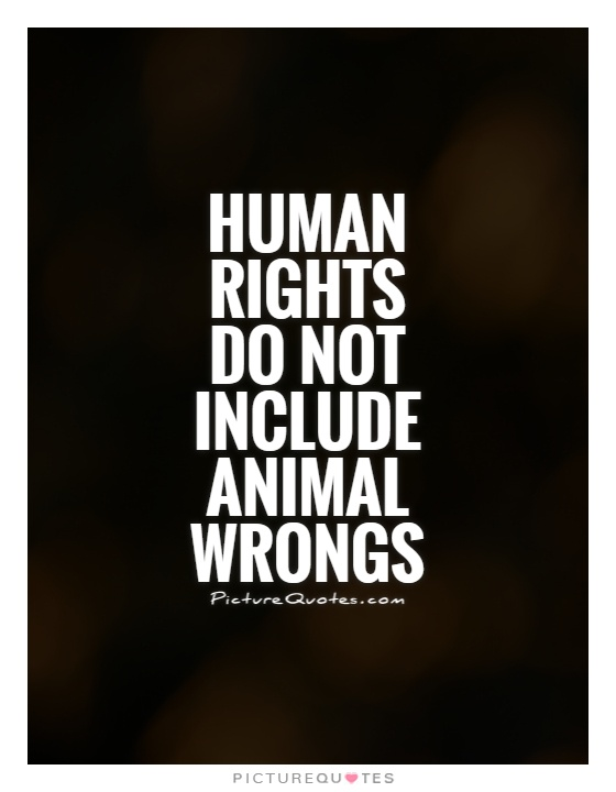 Human rights do not include animal wrongs Picture Quote #1